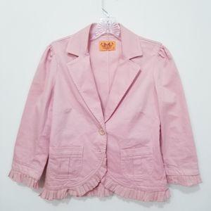 Juicy Couture Pink Ruffle Blazer